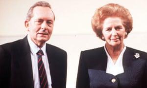 Brian Walden and Margaret Thatcher