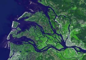 Satellite Eye on Earth: Arkhangelsk (or Archangel in English) capital of Archangelsk Oblast, Russia