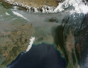 Satellite Eye on Earth: pollution over Northeast India and Bangladesh