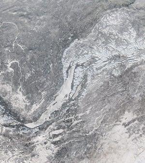 Satellite Eye on Earth: Ice covered Lake Baikal