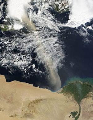 Satellite Eye on Earth: Dust storm across the Mediterranean Sea
