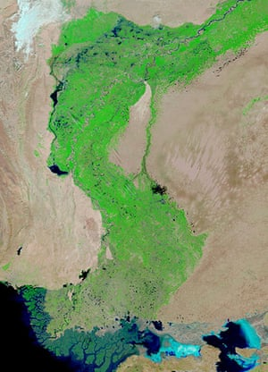 Satellite Eye on Earth: Flood waters lingered in Pakistan