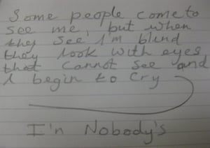 Girls Behind Bars: Anonymous piece of writing