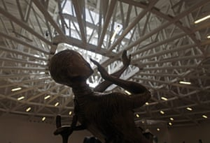 Soumaya Museum Mexico: Salvador Dali's sculpture, Woman Aflame,  is on display on the top floor