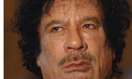 Libya leader Muammar Gaddafi