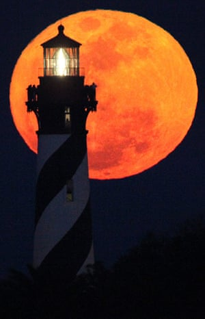 Super moon: From the top of the St Augustine Lighthouse in Florida
