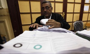 Egyptian votes are counted