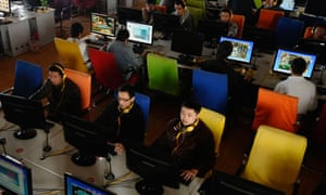 Customers in an internet cafe in Changzhi, China.
