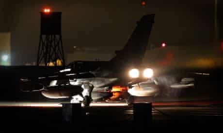 A British Tornado GR4 takes off
