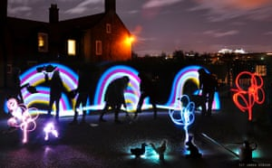 Inverleith Park lighting rainbows