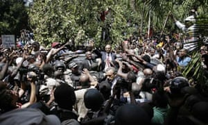 ARISTIDE ARRIVES TO HAITI AFTER 7 YEARS LIVING IN EXILE IN SOUTH AFRICA