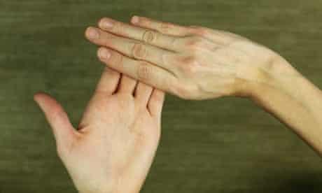 yoga hand exercise