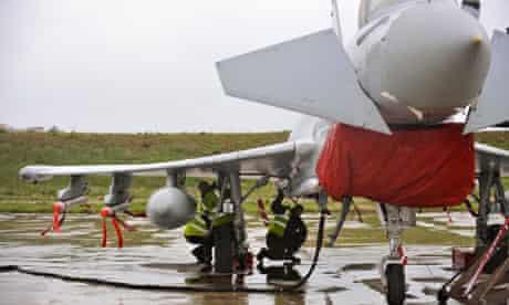 RAF Typhoon being prepared to enforce Libya no-fly zone
