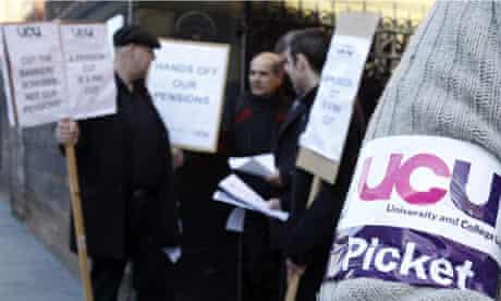University staff strike