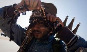 libyan rebel frontline benghazi