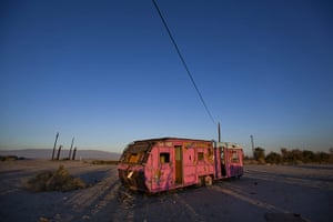 FTA: Jim Lo Scalzo  : An abandoned trailer lit by a late afternoon sun