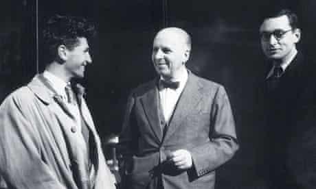 Marcel Mouloudji, Gaston Gallimard and Raymond Queneau, 1944