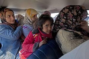 Sean Smith in Libya: 23 March: Civilian refugees flee the town of Ajdabiya