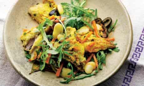 Mackerel escabeche salad