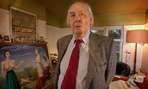 JG Ballard at home in 2004