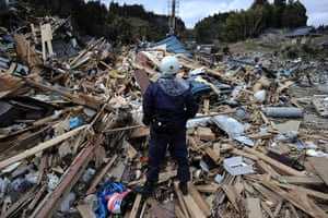 Japan aftermath: A rescue worker