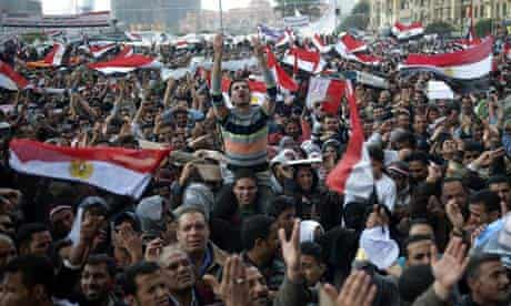 Egyptian anti-goverment demonstrators