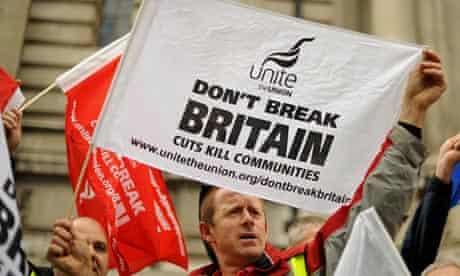Unite union demonstrators
