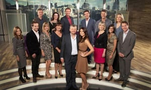 The Daybreak team, led by Adrian Chiles and Christine Bleakley