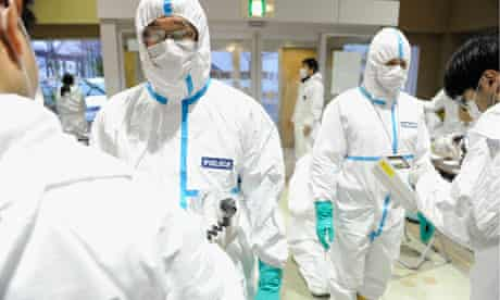 Police screened for radiation contamination