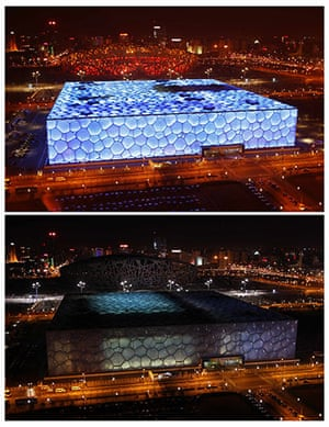 Earth Hour: The National Stadium in Beijing during 2011's Earth Hour