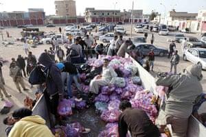 Libyans celebrate: Rebels recapture of Ajdabiya