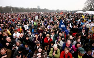 March against cuts: Thousands march in protest to Coalition cuts