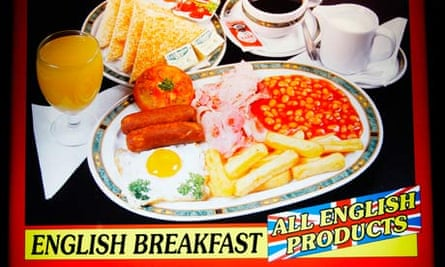 A bar in Spain advertises its English breakfast.