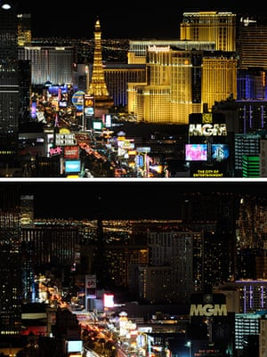 Earth Hour: A view of the Las Vegas Strip