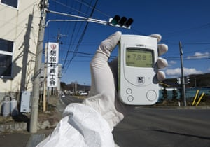Japan earthquake: Fukushima nuclear accident  Geiger counter to monitor radioactivity levels