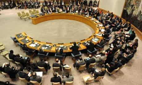 The UN security council meeting to discuss Libya
