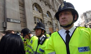 Police at the G20 protests