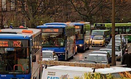 A traffic jam in Great Stuart Street   pic: Ashley Lloyd