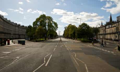 An empty Shandwick Place   pic: Ashley Lloyd