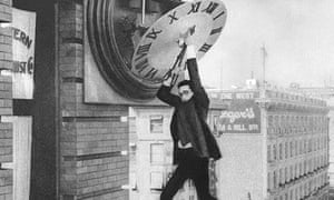 Time on your hands? Harold Lloyd stops the clock in his iconic 1923 silent film