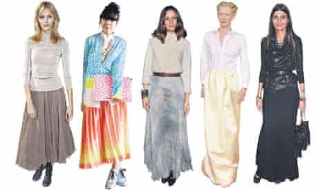 Celebrities in longer length skirts