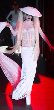 Lady Gaga makes her debut as a model for Mugler