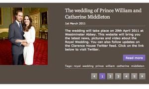 royal wedding site