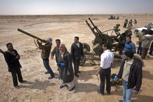 Sean Smith in Libya:  Rebel fighters on the outskirts of Ajdabiya