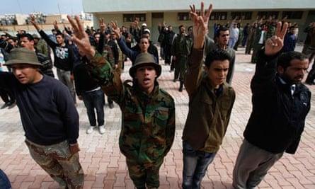 Libyan rebels seen training in Benghazi