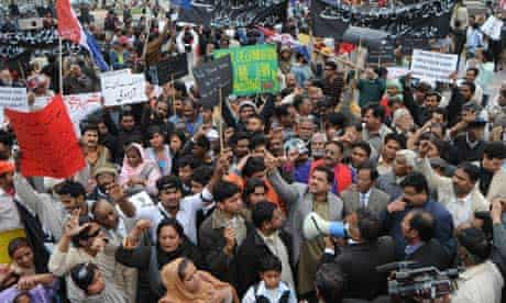 Pakistani Christians protest against the killing of Shahbaz Bhatti 3/3/2011