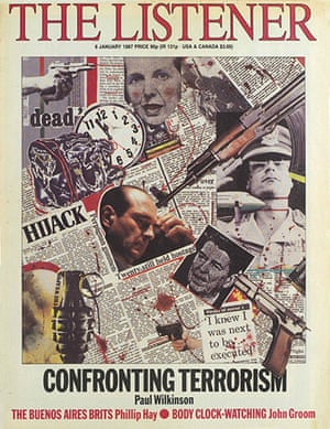 """The Listener: """"Confronting terrorism"""" cover, 8 January 1987"""