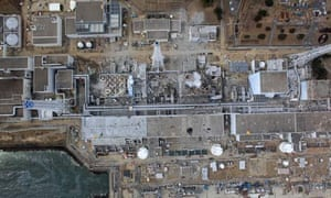 Damaged units at Fukushima Daiichi nuclear power plant, Japan