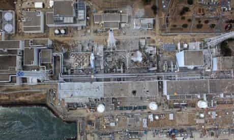 Damaged units at Fukushima Daiichi nuclear power plant, Japan