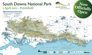 South Downs: national park map